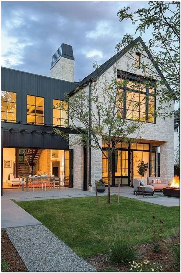 40 trendy ideas for the exterior design of a modern farmhouse 38