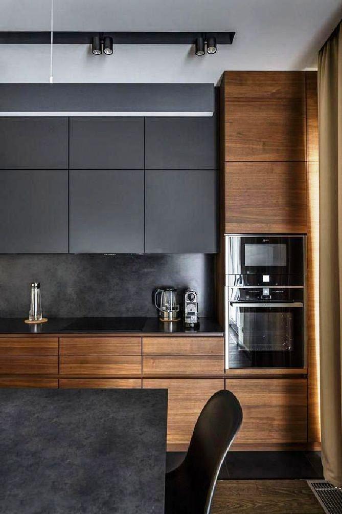 Use stylish black kitchen cabinets for your black kitchen design ideas 9