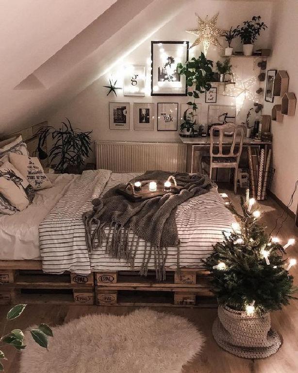 45 Affordable DIY String Lights for Minimalist Bedroom Decor 44