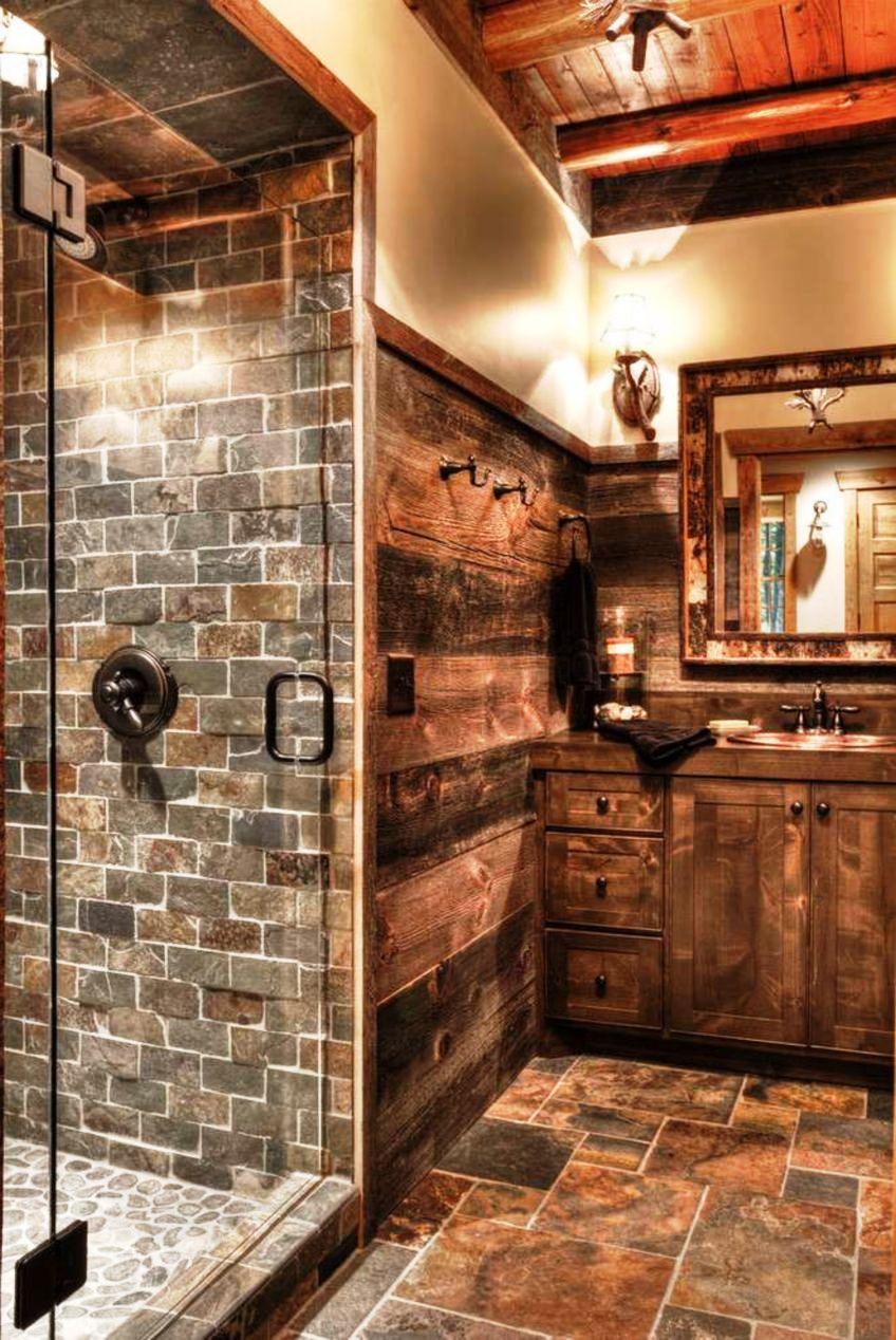 Attractive Rustic Bathroom Farmhouse Design Decor Ideas for Home Use 21st