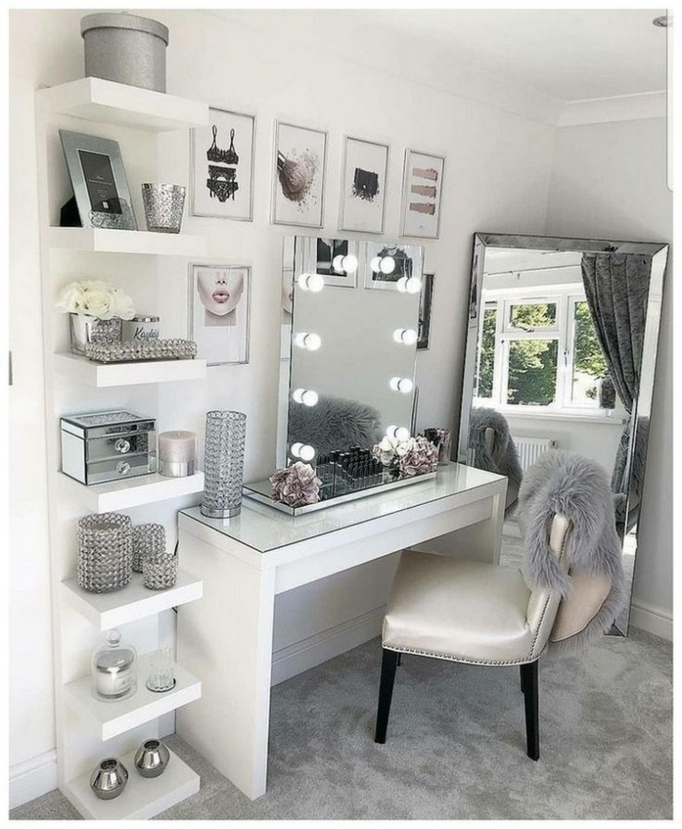 75 best makeup vanities and suitcases for the stylish bedroom 68