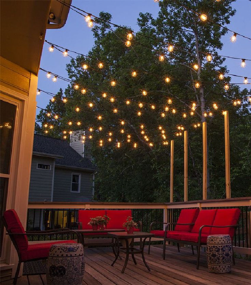 Add elegance to your backyard patio with 49 outdoor fairy lights ideas 7