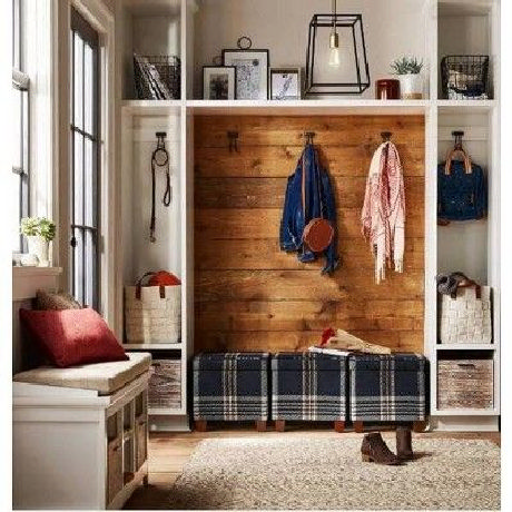 55 cozy affordable farmhouse entryway decorating ideas 10 | homezide