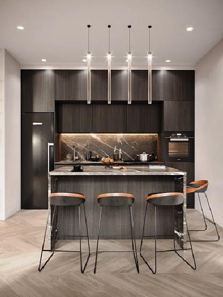 Affordable modern kitchen design for new luxury interior 23 .