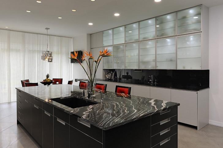 Glass kitchen cabinet doors – modern cabinets design ide
