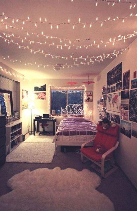Amazing DIY Fairy Light for Small Teen Bedroom Decor Ideas