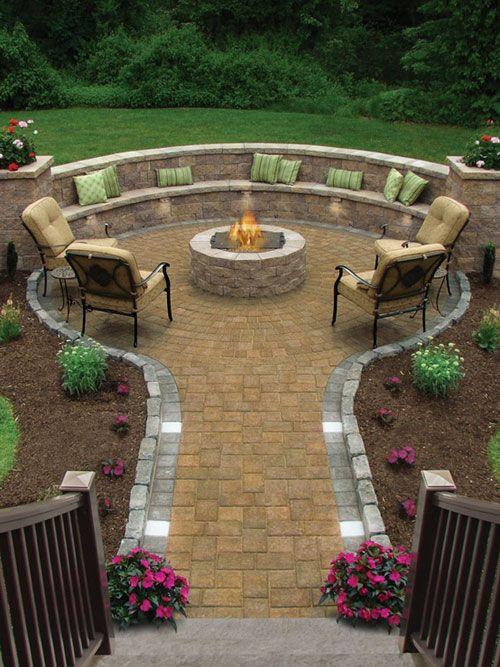 Lovely Patio Garden | Backyard, Backyard fire, Backyard landscapi