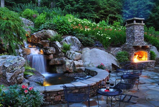 Backyard Waterfall Design Ideas - Landscaping Netwo