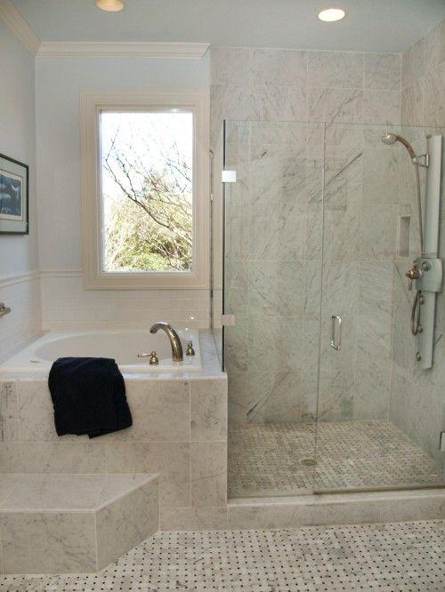 shower   Bathroom tub shower, Small bathroom remodel, Small master .