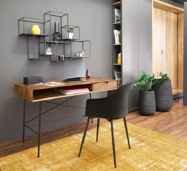 Black wall trend home office design ideas 24 | homezide