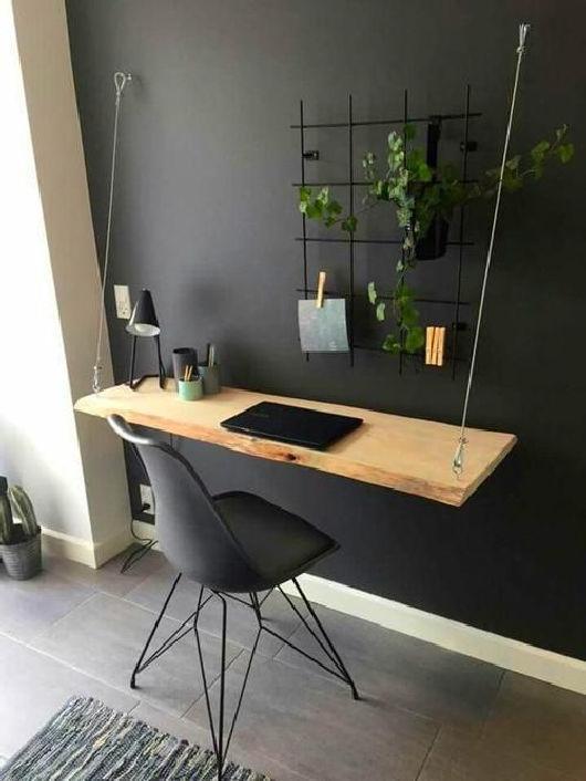 Black wall trend home office design ideas 11 | homezide