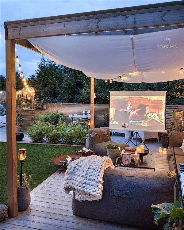 Backyard Movie Theater Ideas - Balcony Decoration & Eco-Friendly .