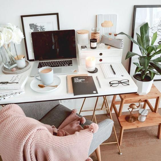 40+ Cozy Workspace Office Design Ideas | Cozy home office, Home .