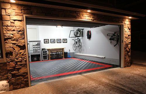 Cool Garage Flooring. | Garage design, Garage interior, Cool garag
