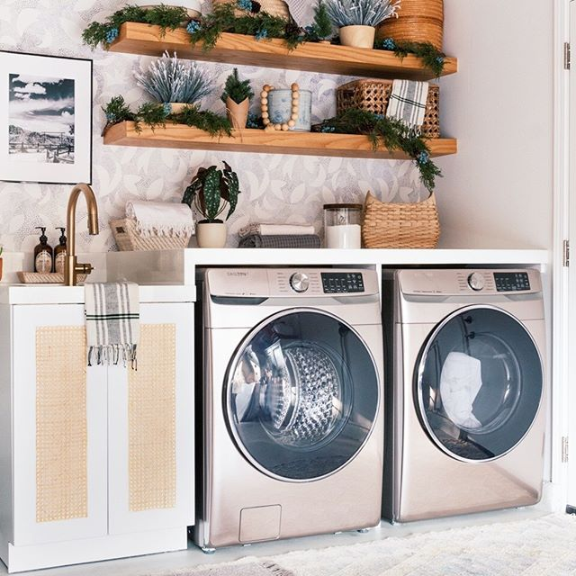 Christmas Decor in the Laundry Room   House design, Pink home .