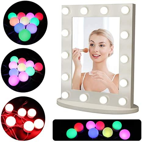 Vanity Mirror Lights Kit, Wall Mount Hollywood LED Mirror Lights .