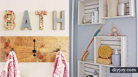 34 Cheap DIY Bathroom Decor Ide