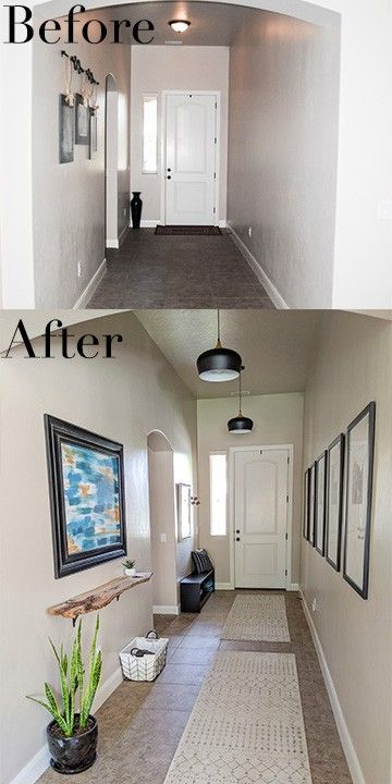 Long Entryway Ideas - Our Entry Hallway Before/After - The DIY .