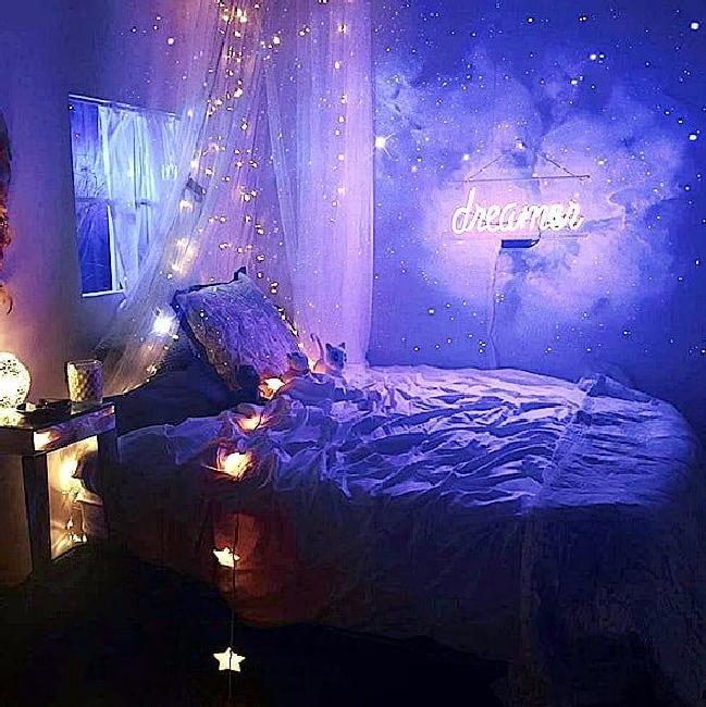 45 affordable diy fairy light for minimalist bedroom decoration 1 .