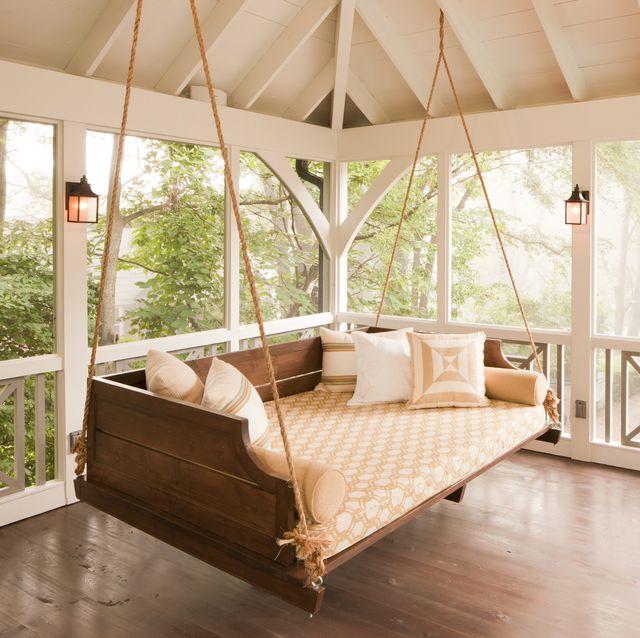 DIY Porch Swing Beds & Swing Chairs