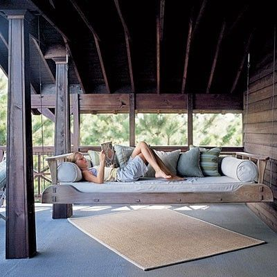 This Ain't Yer Grandma's Porch Swing! DIY Swing Beds & Chairs .