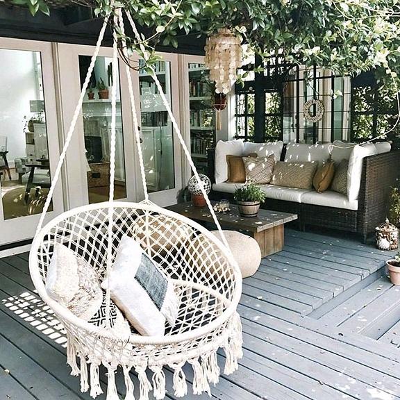 Dishfunctional Designs: This Ain't Yer Grandma's Porch Swing! DIY .