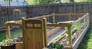 Raised and Enclosed Garden Bed | Backyard landscaping, Diy raised .