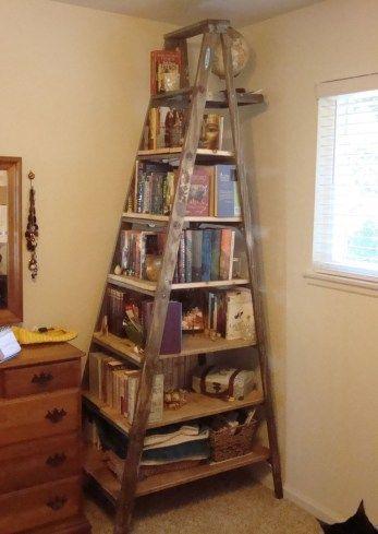 21 Fantastic Ways To Repurposed Ladder (11) | Diy furniture .