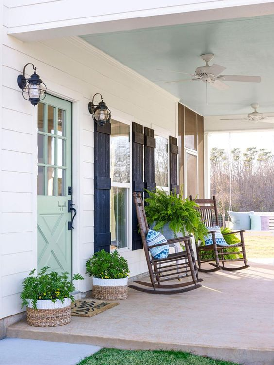 25 Spring Front Porch Ideas: Bright and Refreshing Design   A .