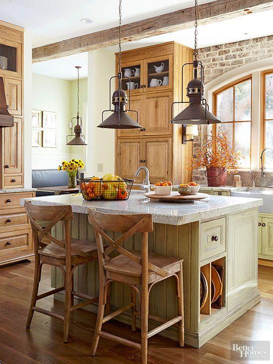 Rustic Kitchen Ideas   Farmhouse kitchen design, Rustic kitchen .