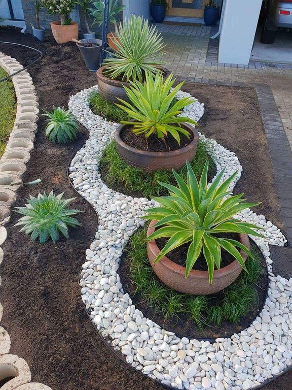 20+ Beautiful Flower Garden Design Ideas In Front Yard   Rock .