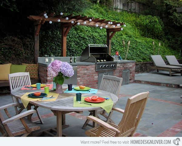 Highly Functional Rustic Outdoor Kitchens
