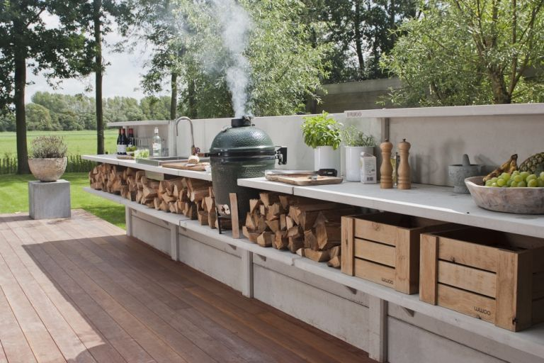 Outdoor kitchen ideas: 28 cool ideas for a chic and functional .