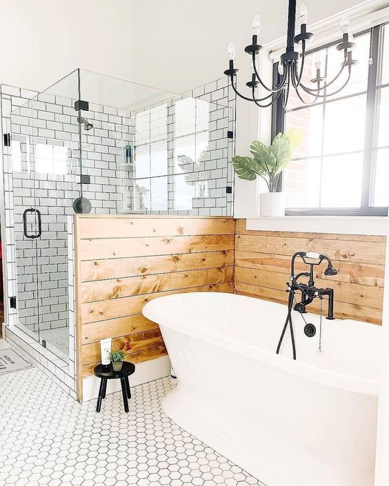 50 Beautiful Farmhouse Bathroom Design and Decor Ideas | Farmhouse .