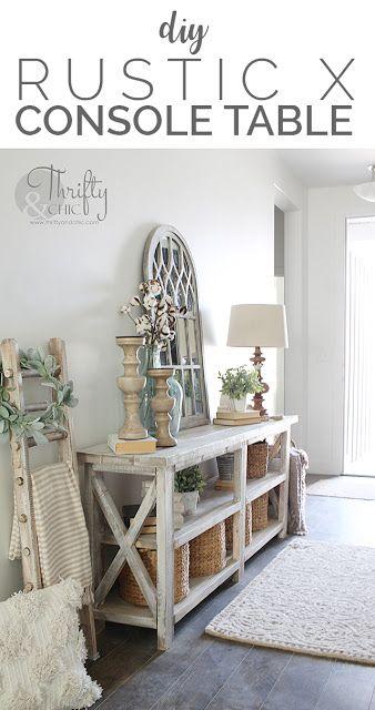 Ideas Rustic Home Decor Console Table