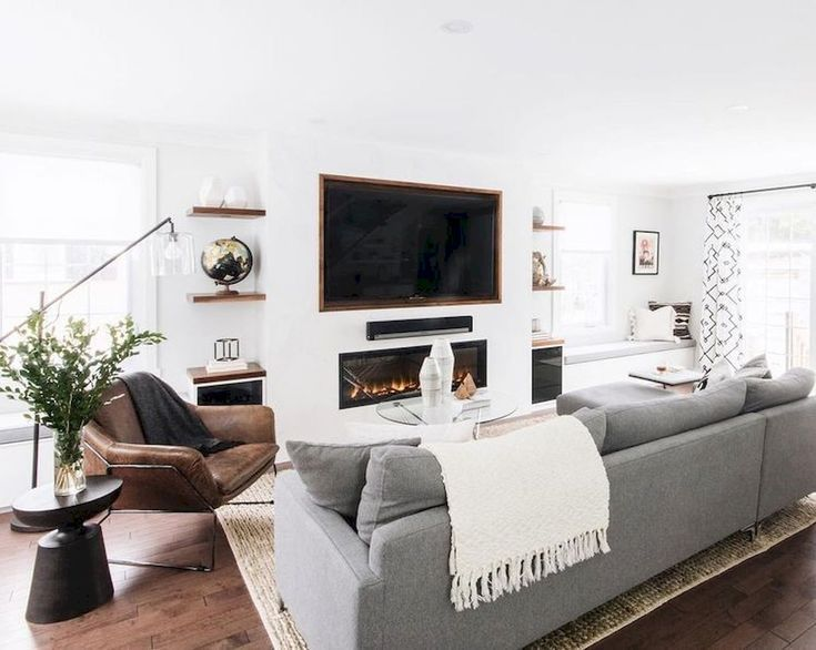 Highly Functional Floating Shelf for Living Room | Elonahome.com .