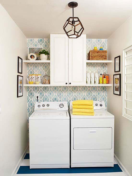 Accent Wall Ideas   Laundry room decor, Laundry room design, Small .