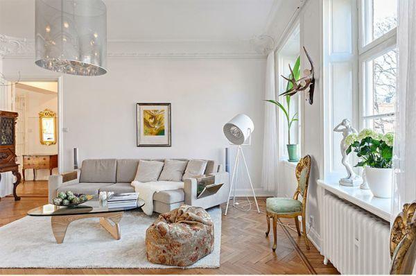 Scandinavian and Luxury Styles Apartment Interior Design .