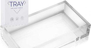 Amazon.com: AH AMERICAN HOMESTEAD Acrylic Bathroom Hand Towel Tray .