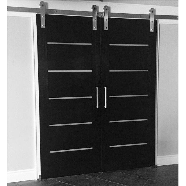 """Rustica Hardware on Instagram: """"This customer's modern, black door ."""