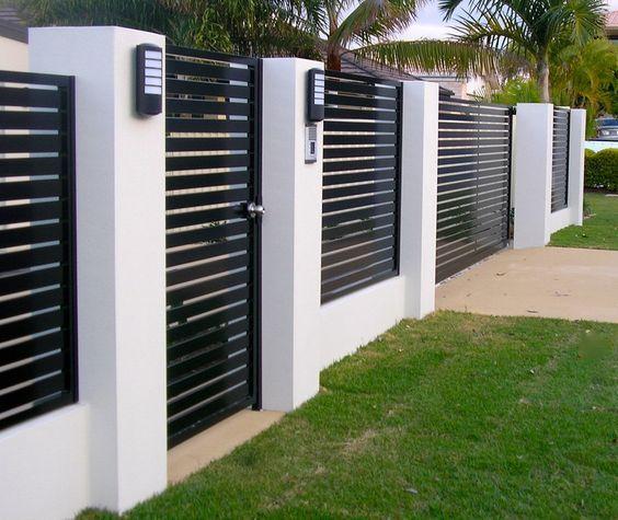 Backyard Fence Design Ideas to Inspire You | Yard Surfer | Modern .