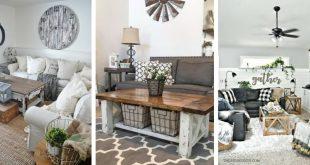 25 Modern Farmhouse Living Room Design Ideas - Decor with Pictur
