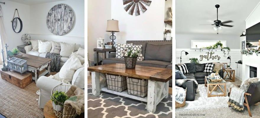 Modern Farmhouse Living Room Design and   Decor Inspirations