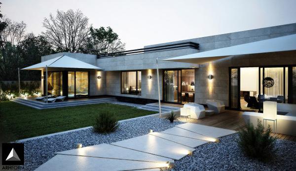 15 Modern Front Yard Landscape Ideas | Home Design Lov