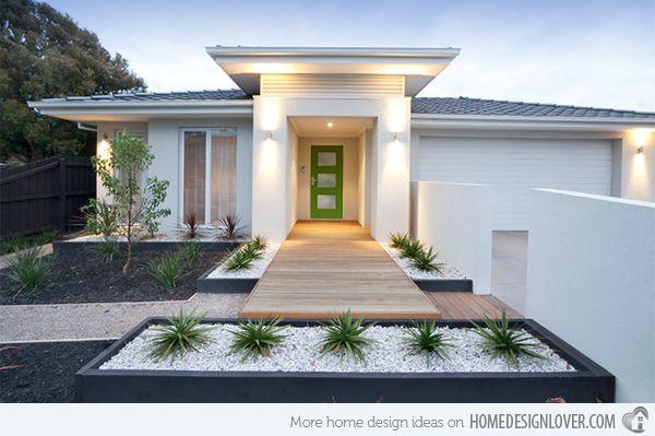 15 Modern Front Yard Landscape Ideas   Home Design Lover   Modern .