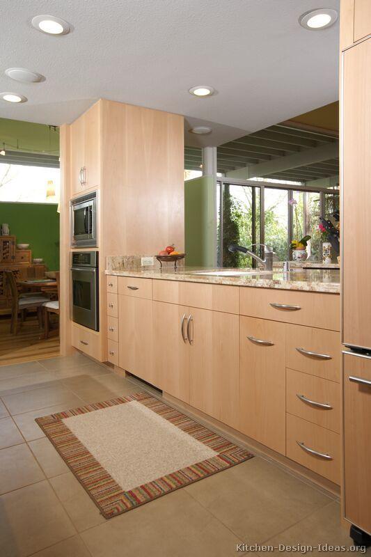 Kitchen Idea of the Day: Modern Light Wood Kitchens.   Light wood .