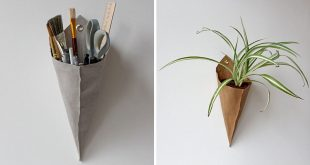Wall Decor Ideas - Modern Wall Cones For Air Plants, Stationery .