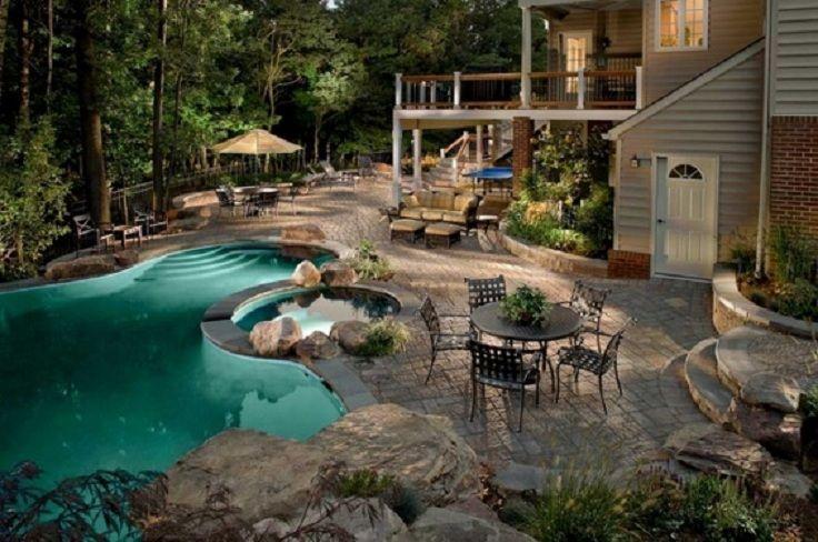 Backyard in Owings Mills, Maryland | Luxurious backyard, Backyard .