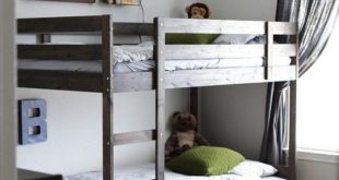 Comfort & Simplicity in a Room for Four Brothers   Bunk beds for .