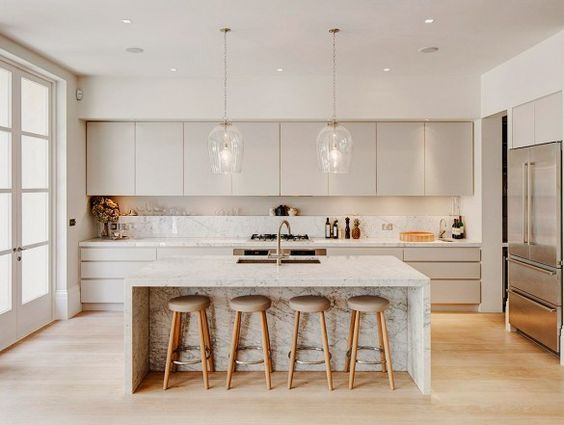 17 of the Most Stunning Modern Marble Kitchens | Home decor .